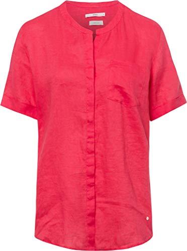 BRAX Style Vania Linen Camicia da Donna, Rosa (Papaya 85), 54