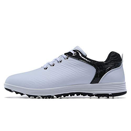 XFQ Zapatos De Golf De Los Hombres, Spikeless Impermeable Campo De Formadores Tamaño Fresco Antideslizante Zapatillas De...