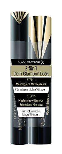 Max Factor Mascara Set, Masterpiece Max black plus Masterpiece Glamour Extensions black, 2er Pack (2...