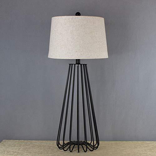 VIWIV Lámpara de Escritorio Lámpara Creativa Negra Metal labrado de Hierro labrado, Sala de Estar Sencilla habitación de Mesa de Noche, lámpara de Mesa Grande, lámpara de Mesa en Blanco y Negro