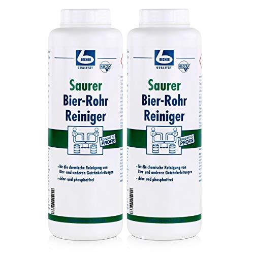 Dr. Becher Saurer Bier-Rohr Reiniger 1kg - Geeignet für die Durchführung einer Grundreinigung mit professionellen Geräten (2er Pack)