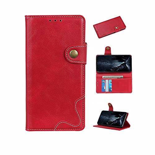 Coque Funda para teléfono Tipo S con Textura de Vaca,Rojo,Adecuada para ASUS ROG Phone 5