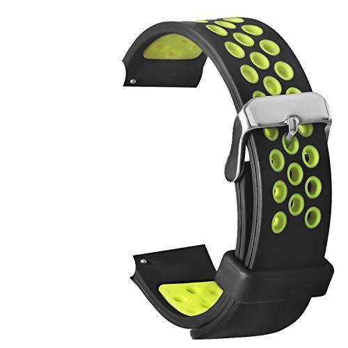 TASLAR Soft Breathable Sport Bands Strap Wristband Bracelet Air Holes Compatible with Amazfit Huami Bip/Amazfit Bip Lite Smart Watch (Black Gray)