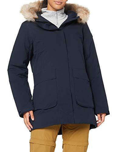 Cmp Parka Con Cappuccio Eco Fur, Giacca Donna, Black Blue, 40, Black Blue