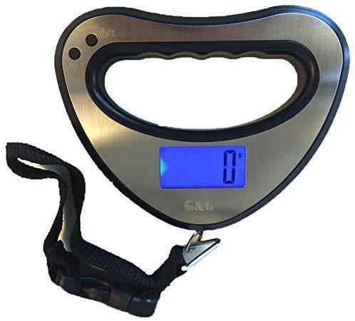 GundG OCS-B-XY - Báscula de Mano Digital (44 kg/10 g, con iluminación de Fondo)