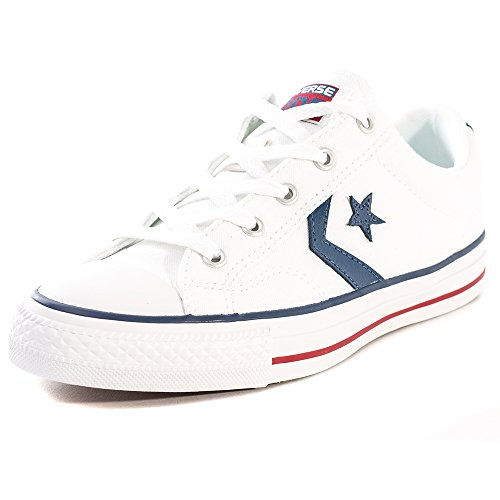 Converse Lifestyle Star Player Ox Zapatillas,  Unisex Adulto,  Blanco White White Navy 111,  43 EU