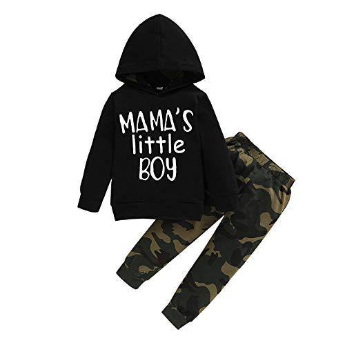 Hinzonek Infant Boy Outfits Langarm Hoodie Sweatshirt Tarnung Hosen Kleidung Set