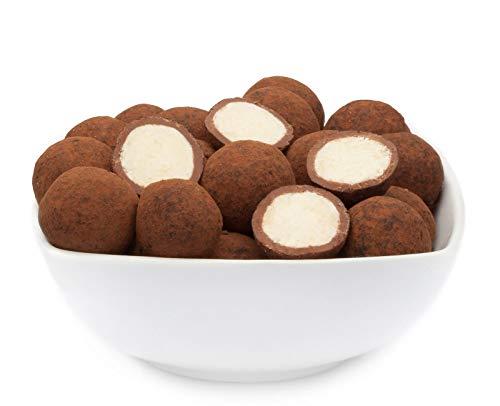 1 x 500g Trüffel Schokolade mit Kokos Zarte Kokoscreme in belgischer Trüffelschokolade mit Kakaopulver zartschmelzend vegetarisch