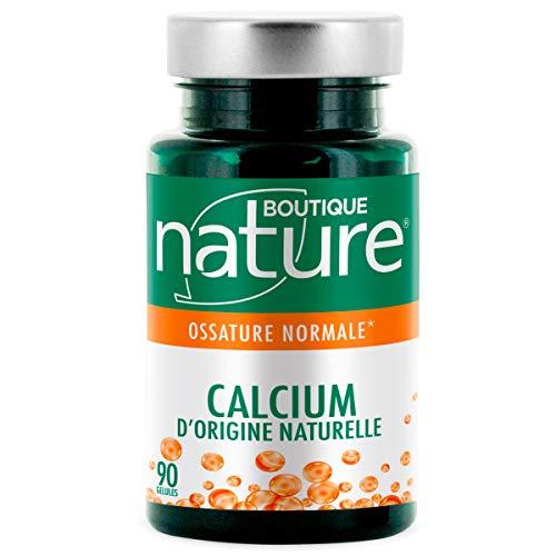 Boutique Nature - Complément Alimentaire - Articulations - Calcium d'Origine Naturelle - 90 Gélules Végétales - Maintien d'une ossature normale