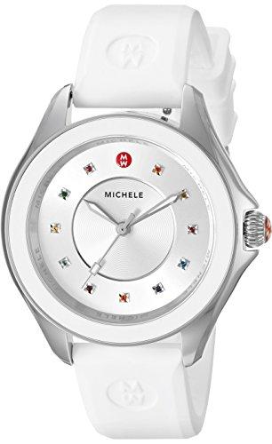 MICHELE Women's MWW27A000007 CAPE Analog Display Swiss Quartz White Watch