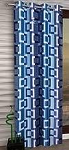Home Ready 1 Piece Eyelet Polyester Long Door Curtain Set-Size-6 feet Long,Blue