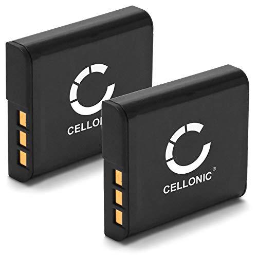 CELLONIC 2X Akku kompatibel mit Sony DSC-H50 -H3 -H7 -H9 -H10 -H20 -H50 -H55 -H70 -H90 DSC-HX9V -HX5V -HX7V -HX10V -HX20V DSC-W55 -W50 -W80 -W120 -W170 -W300 900mAh Ersatzakku NP-BG1 NP-FG1 Batterie