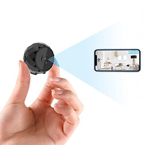 Cámara Espía 4K HD, Mini Cámara WiFi de Vigilancia Oculta para Ver en el Móvil con App, Microcamara Inalámbricas con Batería, Camuflada, Visión Nocturna, Detección de Movimiento Interior/Exterior