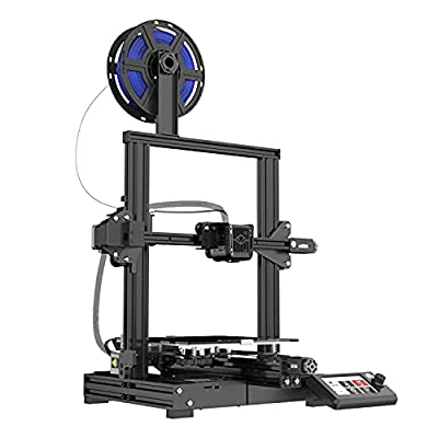 Voxelab Aquila 3D Printer with Carbon Crystal Silicon Glass Plateform,Fully Open Source and Resume Printing Function, Print Size 220x220x250mm