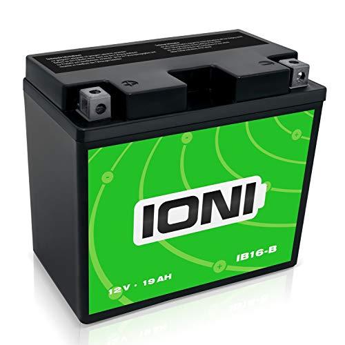 IONI IB16-B 12V 19Ah AGM Batterie kompatibel mit YB16-B versiegelt/wartungsfrei Motorradbatterie