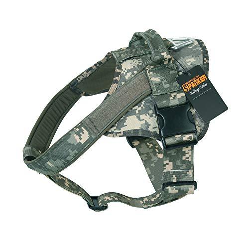 EXCELLENT ELITE SPANKER Hundegeschirr militärischen Ausbildung Patrol K9 Service Dog Weste Arbeiten verstellbar Hund Weste(Army Combat Uniform-L)