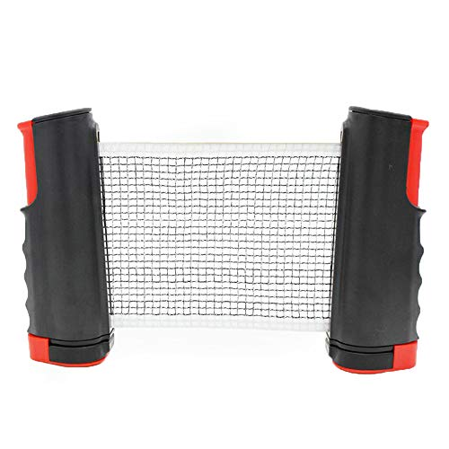 Ogquaton Rejilla Profesional de Tenis de Mesa Portátil retráctil Soporte de Red de Tenis de Mesa Accesorio de Ping Pong Práctico y útil