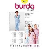 Burda Patrón 9747 Kids Pijama