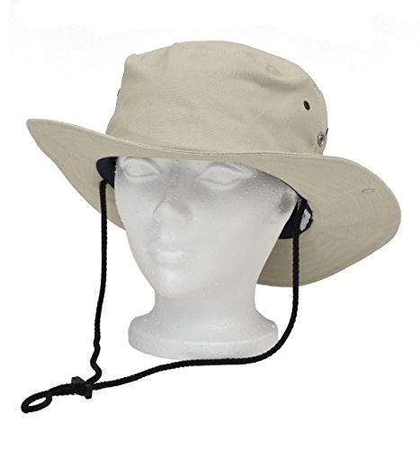 WOREMOR EMF Radiation Protection Bush Hat Blocking RF EMF - Cell Towers - Smart Meters - WiFi (X-Large, Beige)
