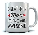 Taza de café para la madre-gran trabajo Mamá Resulté Taza divertida impresionante 11 onzas. Blanco