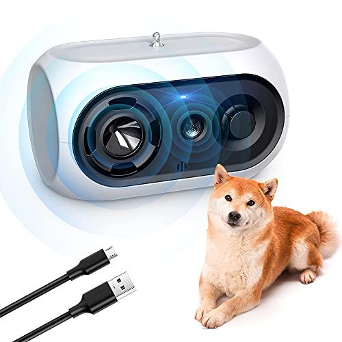 ULPEAK Ultraschall Hunde, Antibell für Hunde, Antibell Halsband Hund Wasserdichtes Anti-Bell-Gerät für kleine und große Hunde