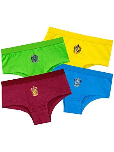Harry Potter Mädchen Hogwarts Unterwäsche Packung mit 4 Mehrfarbig 140