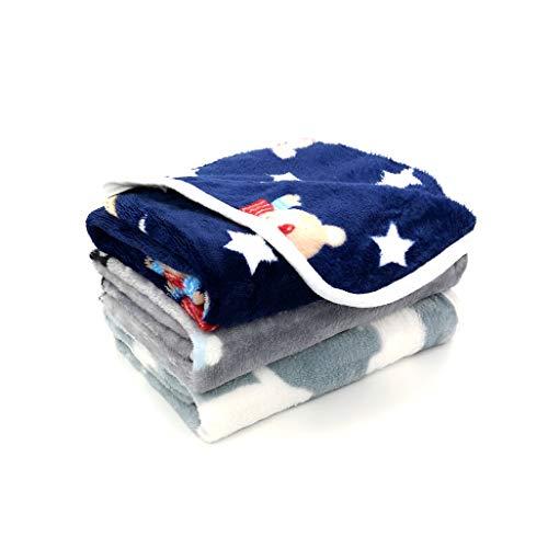 "Yizhi Miaow 1 Pack 3 Patterns Small Blanket Soft Warm Fleece Throw Blanket 23"" x 15.5"" Pet Kitten Blanket Fleece Puppy Blanket Cushion Ultra Light Comfortable Soft Warm Sleep Mat"