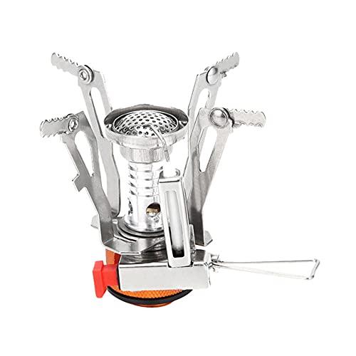 QWSNED Estufa, ultraligero portátil al aire libre mochilero camping estufa, con encendido piezoeléctrico picnic cocina estufa, para camping barbacoa