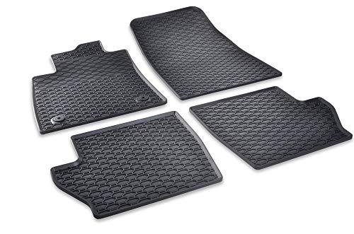 DAPA Prime Gummimatten für Fiesta mk8 ST-Line Gummi Fußmatten Komplettset Schwarz perfekt passend mit Rand 1078794