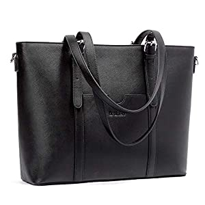BROMEN Women Briefcase 15.6 inch Laptop Tote Bag Vintage Leather Handbags Shoulder Work Purses 7