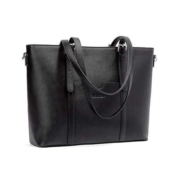 BROMEN Women Briefcase 15.6 inch Laptop Tote Bag Vintage Leather Handbags Shoulder Work Purses 1