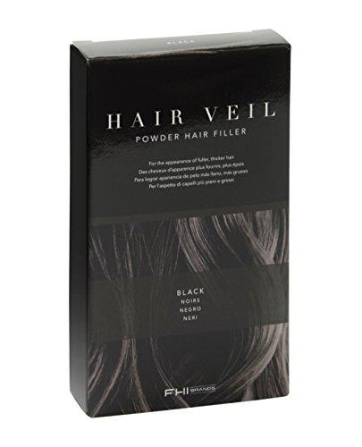 FHI Cosmeticos HV4006 Hair Veil Polvo de Relleno de Raíces, Color Negro