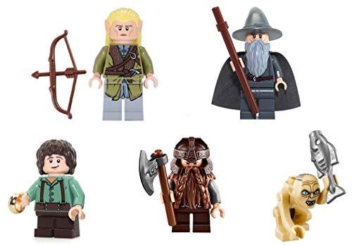 LEGO Lord of The Rings: Frodo Gandalf Gimli Legolas Gollum - 5 Minifigs