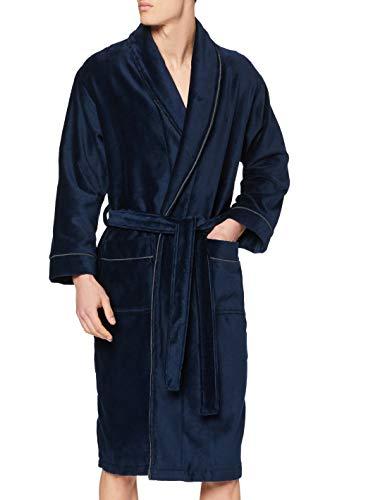 HOM - Herren - Bademantel \'Yotha\' - Hochwertige Loungewear - Navy - M