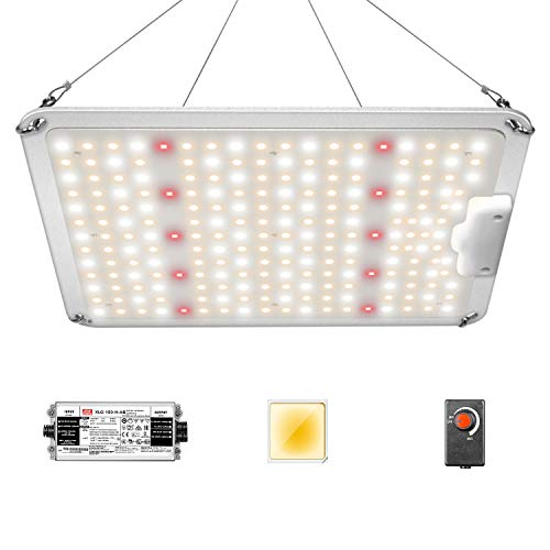 iPower 1050W Sunlike Dimmable Full Spectrum LED Grow Light with Upgraded Diodes and Mean Well Driver for Hydroponics Indoor Plants, Light-RP1050A, Seeding and Flower, Tent and Greenhouse