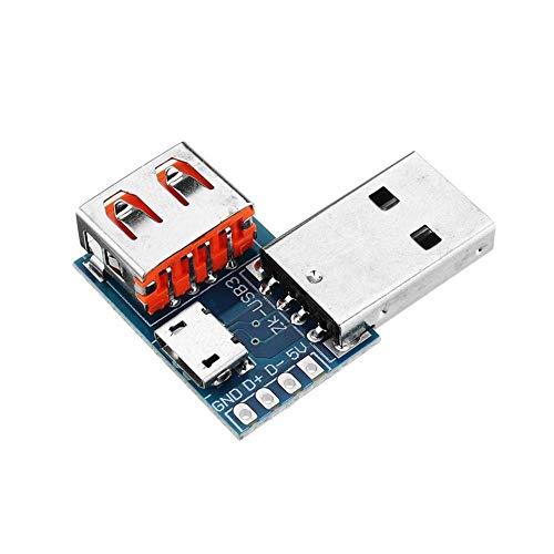 KANJJ-YU Adaptador USB Micro USB a USB hembra conector macho a hembra 4P 2.54mm Spot Steuermodul