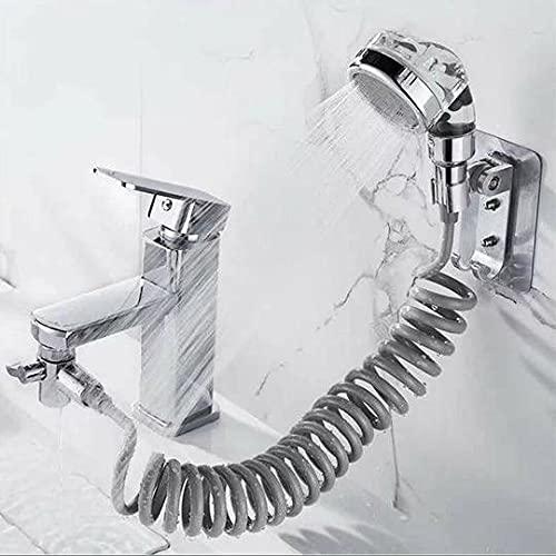 Set doccia per lavandino, soffione, doccetta del bagno, perfetto per lavare i capelli o lavare animali domestici
