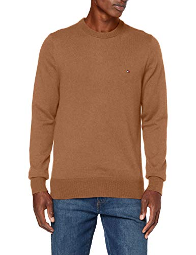 Tommy Hilfiger Herren Pima Cotton Cashmere Crew Neck Pullover, Classic Camel Heather, XL