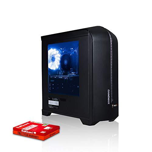 Fierce Enforcer Gaming PC - Veloce 4.2GHz Hex-Core AMD Ryzen 5 3600, 1TB Disco a Stato Solido, 8GB 3000MHz, NVIDIA GeForce GTX 1050 Ti 4GB, Finestre non Incluso 965338