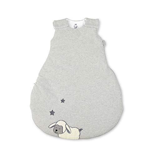 Sterntaler Schlafsack Schaf Stanley für Babys, Reißverschluss und Knöpfe, Größe: 62/68, Grau
