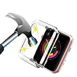 Coque Apple watch Série 3 38mm Transparent,Apple watch Protection écran iWatch Serie 2 Étui de...
