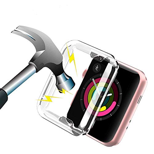 Aottom für Apple watch Serie 2 Hülle 42mm,iWatch Series 3 Bildschirmschutz Apple Watch Hülle Protective Bumper Cover Transparent Weiche Silikon iWatch Schutzhülle Schutz Hülle für Apple Watch Series 3/2