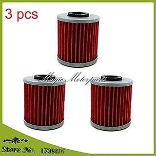 Corolado Spare Parts, 3 pcs Oil Filters for Kawasaki KX250F KX250 Suzuki rmz 250 450 EVO 300 250 4 Stroke