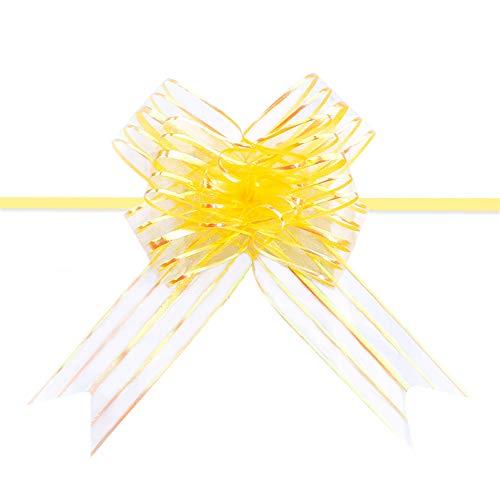 sinzau 10 lazos dorados con cuerda para regalo de Navidad y bolsas de regalo