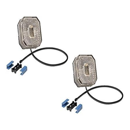 Fkanhängerteile 2 X Aspöck Flexipoint 1 Weiss Led M 0 5 M Dc Kabel Dc Verbinder 31 6309 007 Auto