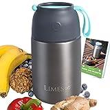 Contenitore termico per il pranzo, 700 ml, in acciaio INOX, per alimenti a tenuta stagna, contenitore termico per alimenti per bambini, contenitore per alimenti per dieta, cereali, senza BPA
