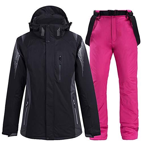 AXIANNV Männer/Frauen-Schneeanzug-Snowboardingsätze, tragen wasserdichte Winddichte Skijackenschnee-Gurthosen, 4, L