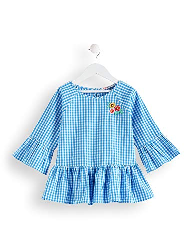 Amazon-Marke: RED WAGON Mädchen Bluse mit Vichy-Muster, Blau (Blue White), 146, Label:11 Years