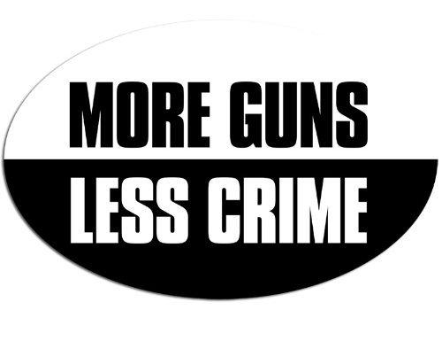 Autocollant guns ovale more less stickers crime
