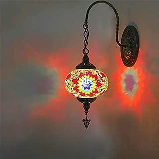StAuoPK Lámpara de Pared Hecha a Mano Retro Estilo étnico, TV Pared del balcón Pasillo Pasillo KTV de la lámpara de Pared del café,A